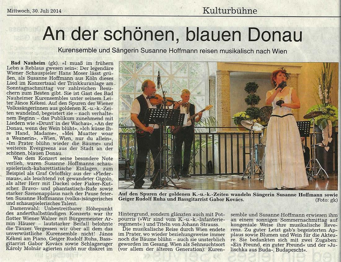 Sängerin Susanne Hoffmann | Wiener Kaffeehauskonzert