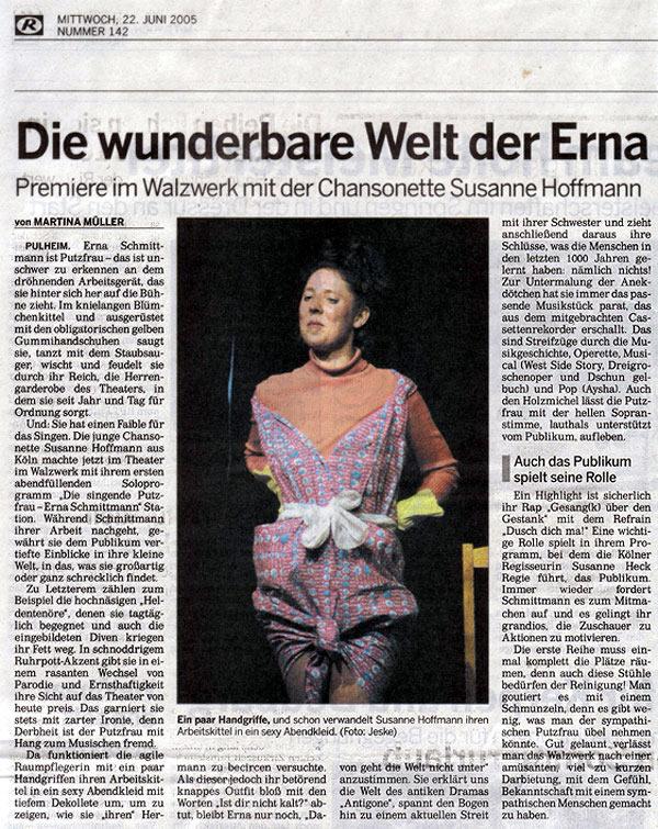 Sängerin und Chansonette Susanne Hoffmann | Musik-Theater